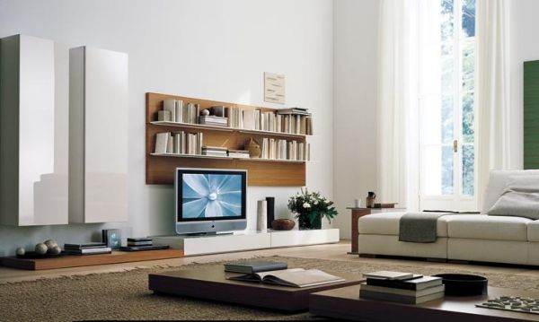 Innovative TV Möbel Holz Elemente Design