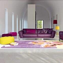 Attraktives Lila Sofa Design