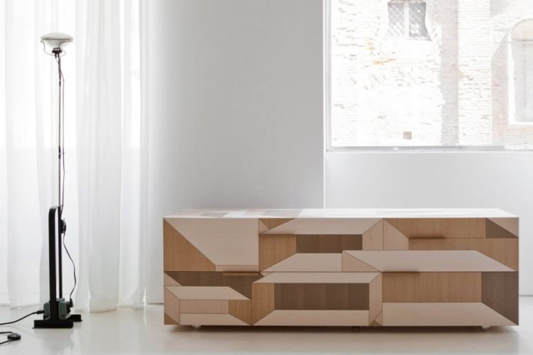 Holz Sideboard Modern Inlay PORRO Interessantes Muster