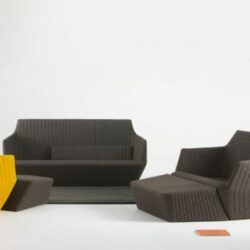 Modernes Sofa Design Polster Möbel Grau Gelb RE Bouroullec