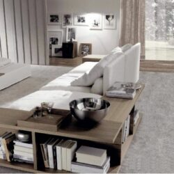 Modulares Sofa Design Integriertes Bücherregal Dominio Frigerio