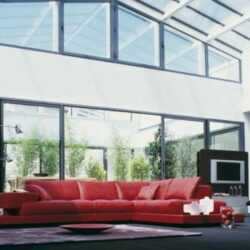 Rotes Sofa Wohnzimmer