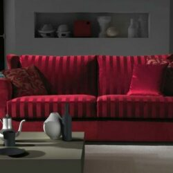 Rotes Sofa Gepolstert Design Daybed Bourbon Asnaghi Bordeaux