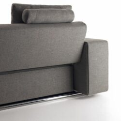 Schlafsofa Grau ANDY 13 Paolo Piva Rueckseite Funktion Mechanismus Polster Modern Funktional