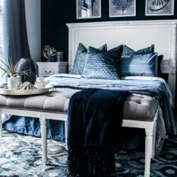 Blue And White Mattress