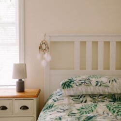 White And Green Floral Bed Linen